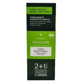 Rene Furterer Vitalfan Complemento Alimenticio Caída Reaccional Puntual, Estrés, Post Parto Tratamiento de 3 Meses