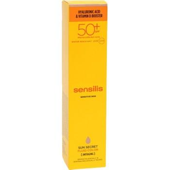 Sensilis Sun Secret Tratamiento Fluido Con Color Antiedad SPF50+ Resistente al Agua 50ml
