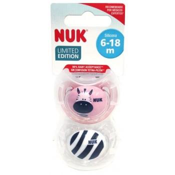 Nuk Chupete Anatómico Freestyle Baby Safari Silicona 6-18 Meses 2 Unidades