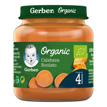 Gerber Organic Potito de Calabaza Boniato +4 Meses 125g