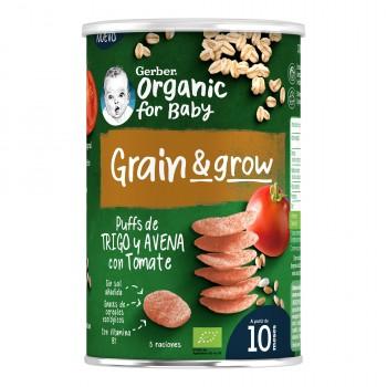 Gerber Organic Grain & Grow Snack de Trigo y Avena con Tomate +10 Meses 35g