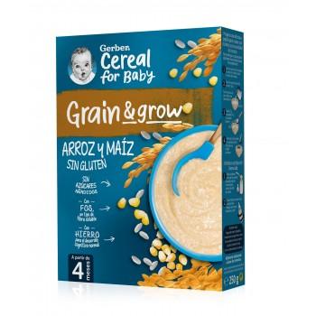 Gerber Grain & Grow Papilla Arroz y Maíz Sin Gluten +4 Meses 250g