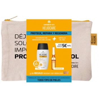 Heliocare Pack Neceser Todo Tipo de Pieles Water Gel 360º SPF50+ + Endocare Radiance Ampollas