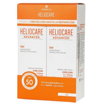 Heliocare Advanced Gel SPF50 Textura Gel Cara y Cuerpo Pack 2x200ml