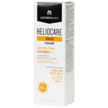 Heliocare 360º Gel Oil-Free Con Color Beige SPF50+ Toque Seco Piel Grasa Con Tendencia Acneica 50ml