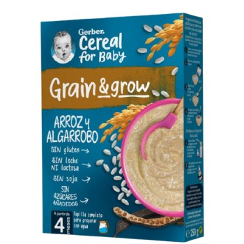 Gerber Grain & Grow Papilla Arroz y Algarrobo +4 Meses 250g
