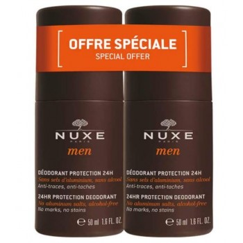 Nuxe Men Desodorante 24 Horas Sin Sales de Aluminio Sin Alcohol Pack 2x50ml