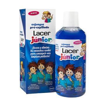 Lacer Junior Enjuague Pre-Cepillado Sin Alcohol Sabor Fresa 500ml