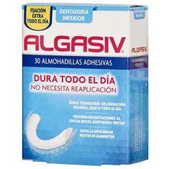 Algasiv Almohadillas Adhesivas Dentadura Inferior 30 Unidades