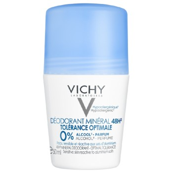 Vichy Desodorante Mineral 48Horas Tolerancia Óptima Piel Sensible y Reactiva a Sales de Aluminio Roll-On 50ml