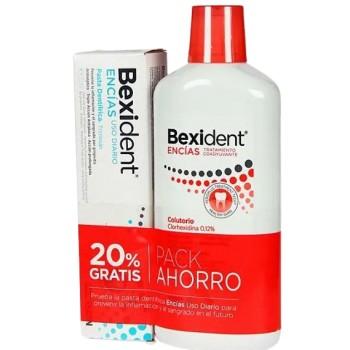 Bexident Pack Colutorio Encíascon CLorhexidina 0.12% 500ml + Pasta Dentífrica Encías Uso Diario 75ml