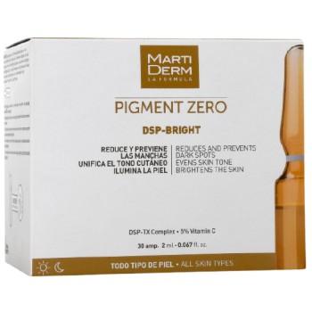 MartiDerm Pigment Zero Ampolla Despigmentante Iluminador Todo Tipo de Piel 30 Ampollas