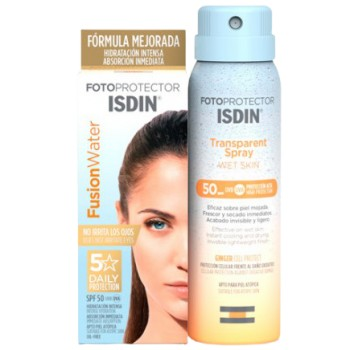 Isdin Fotoprotector Pack Fusion Water SPF50 50ml + Transparent Spray Wet Skin SPF50 100ml