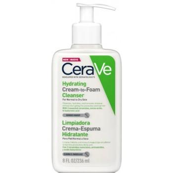 Cerave Limpiadora Crema-Espuma Hidratante Piel Normal a Seca 236ml