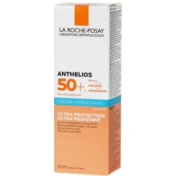 La Roche Posay Anthelios SPF50+ Crema Hidratante Ultra Resistente Con Color Piel Seca y Sensible 50ml