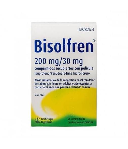 Bisolfren 200 mg 20 comprimidos