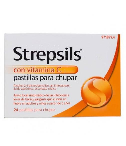 Strepsils Vitamina C Pastillas para Chupar 24 pastillas