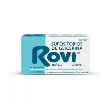 SUPOSITORIOS DE GLICERINA ROVI NIÑOS, 15 SUPOSITORIOS