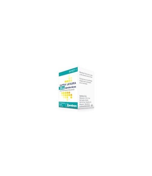 Ultra-Levura 50 mg Cápsulas Duras , 50 cápsulas
