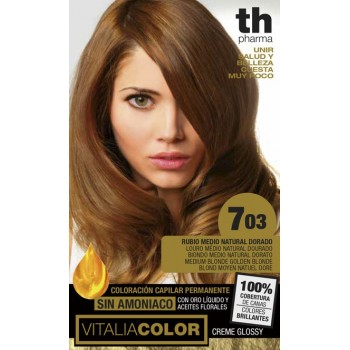 TH PHARMA TINTE VITALIA 703 RUBIO MEDIO NATURAL DORADO