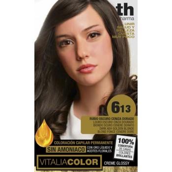 TH Pharma Vitalia Tinte 613 Rubio Oscuro Ceniza Dorado
