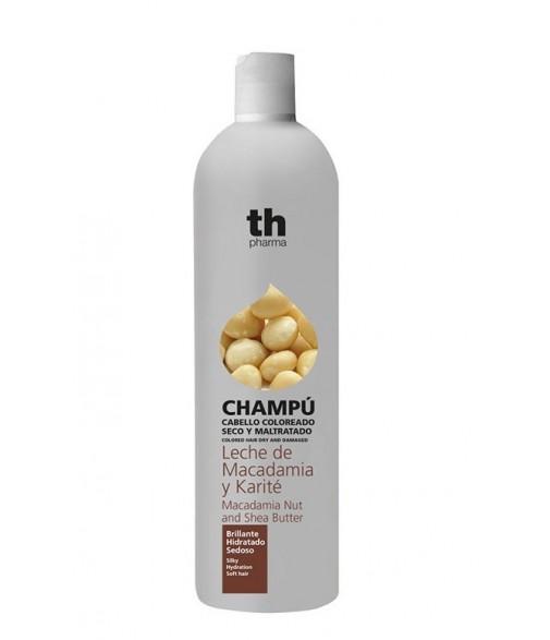 Th champú Leche de macadamia y Karité (cabello coloreado seco y maltratado. ) Brillante Hidratado y Sedoso