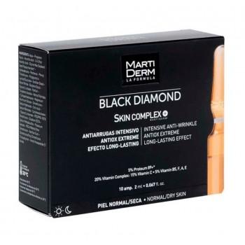 MartiDerm Black Diamond Skin Complex Piel Normal Seca 10 Ampollas