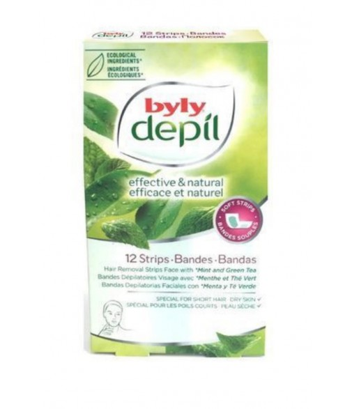 BYLY PAPEL DEPIL FACIAL 12 unidades