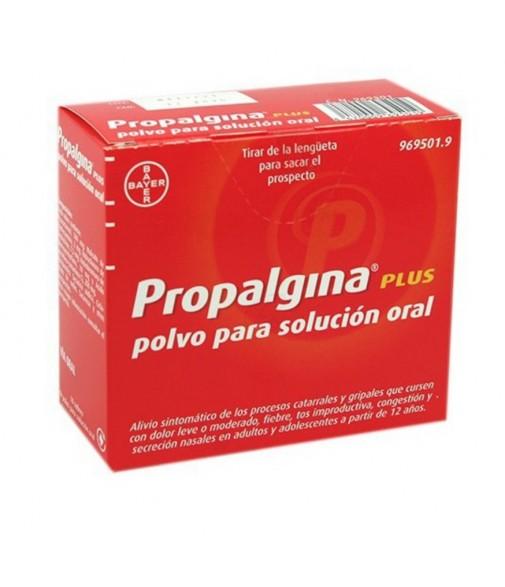 Propalgina plus polvo solución oral 10 sobres
