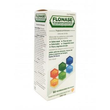 Flonase 50 mcg pulverización nasal 60 dosis