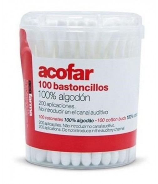 BASTONCILLOS ACOFAR 100U BOTE