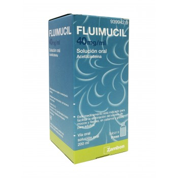 Fluimucil 40 mg solucion oral 200 ml