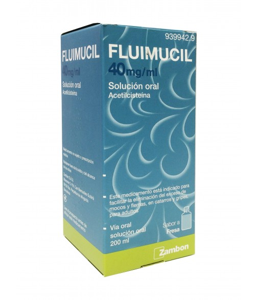 Fluimucil 40 mg solucion oral 200 ml