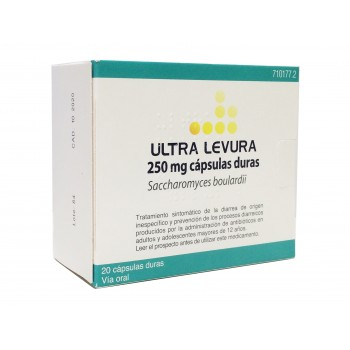 Ultra levura 250 mg 20 cápsulas