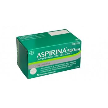Aspirina 500 mg comprimidos efervescentes , 20 comprimidos