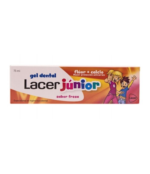 Lacer junior gel dentífrico fresa 75ml