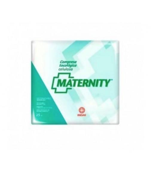 Compresa Indas maternity celulosa 25 unidades