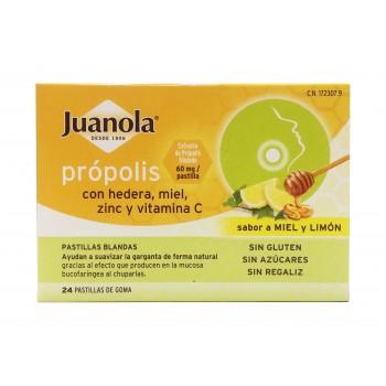 Juanolas caramelos própolis hedera miel 24 pastilla de goma