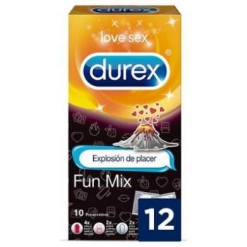 Durex Preservativos Fun Mix 4xSabor Fresa 2xPuntos y Estrías 2xExtra Lubricado 2x Placer Más Duradero