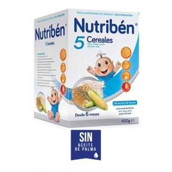 Nutribén Papilla 5 Cereales +6 meses
