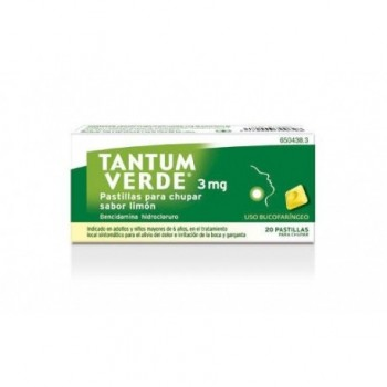 Tantum Verde Pastillas para Chupar Sabor Limón 3 mg