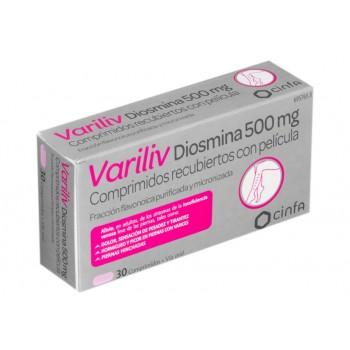 Variliv Diosmina 500 mg 30 comprimidos