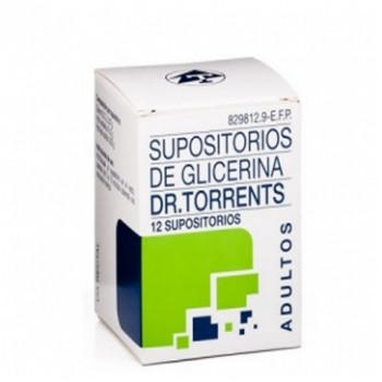 Dr. Torrents Supositorios de Glicerina Adultos 12 unidades