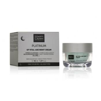 MartiDerm Platinum GF Vital-Age Night Cream Crema de Noche Todo Tipo de Piel 50 ml