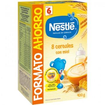 Nestlé 8 Cereales con Miel Papilla de Cereales 900 g