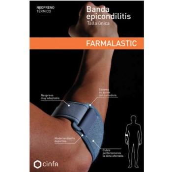Farmalastic Banda Epicondilitis Neopreno Térmico Talla Única