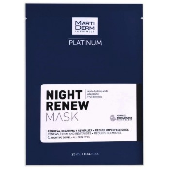 Martiderm night renew mask platinum 1 unidad