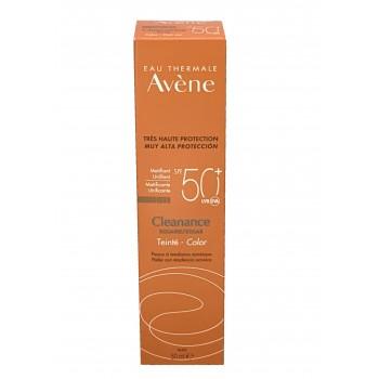 Avene Cleanance solar Spf 50+ Muy alta protección con color
