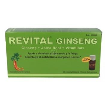 Revital Ginseng+Jalea Real+Vitaminas 20 Viales Bebibles de 10cc Fácil Apertura