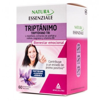 Triptófano Tri Bienestar emocional 60 Comprimidos Ranurados